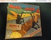 Valentines Sale Heckle and jeckle log rollers film reel, terrytoons, cbs ken films, ny, super 8, collectable, vintage