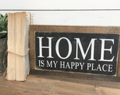 WELCOME HOME Mini 7 X 12 Black and White Rustic Farmhouse Wooden Sign