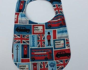 Baby Union Jack British Bib