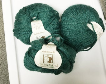 Elsebeth Lavold Yarn, Calm Wool in  Tal Bllue Green, Color 13, Wool, Camel and Alpaca Blend, Worsted Weight, Soft