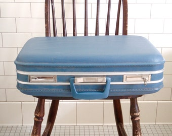 1960s Hard-Bodied Suitcase with Key