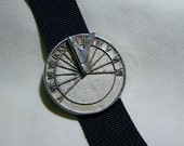 Vintage Sterling Silver Sundial Watch