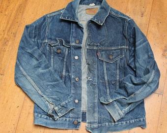 Vintage LEVIS 'Big E' Jean Jacket  1950s 60s // James Dean Style/ rh115