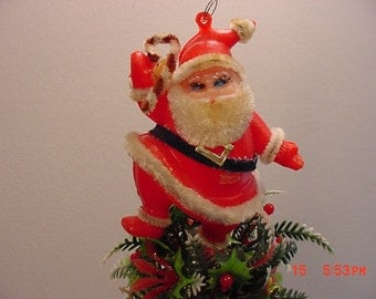Vintage Christmas Santa Claus Light Up Nose Brooch Does Not
