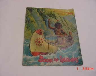 Antique 1914 Linen Book Of Indians  16 - 371
