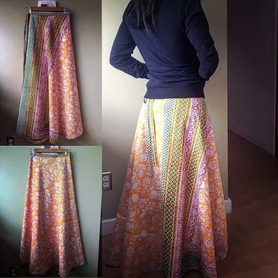 Full length wrap skirt, one size fits most