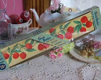 Vintage Meyercord Decals-Waterslide-Old Stock-Kitchen-Cherries