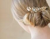 Wedding headpiece, Wedding hair comb, Grecian headpiece, Wedding hair piece, laurel hair piece, Leaf hair piece, Rose Gold Headpiece