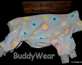 "Reduced 15.5""  Ready to Ship BuddyWear fleece outfit for female  Italian Greyhounds, Hairless Terriers, Cresteds and all small dogs"