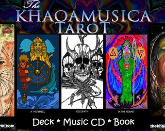 The KHAOAMUSICA Tarot - Card Deck, Music CD & PDF Book package