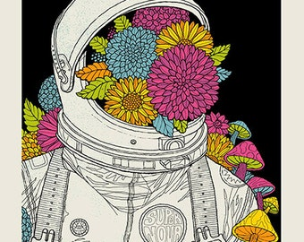Super Nova Astronaut silkscreen