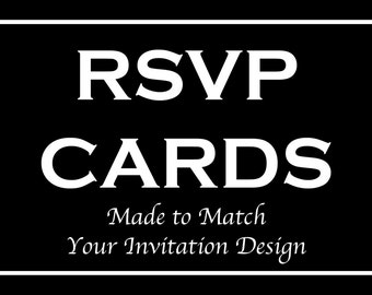 RSVP Reply Cards for Bar and Bat Mitzvah Invitation Orders - Made to Match Any Design in our Store