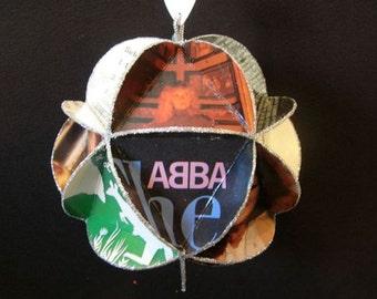 ABBA Album Cover Ornament Made Of Repurposed Record Jackets