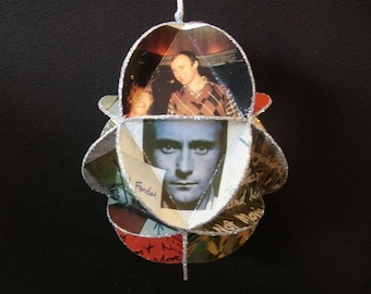 Phil Collins Album Cover Ornament Made Of Record Jackets - Genesis Band
