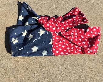 Baby American Flag headband Knot head band Freckles California