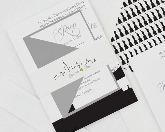 Modern Wedding Invitation New York