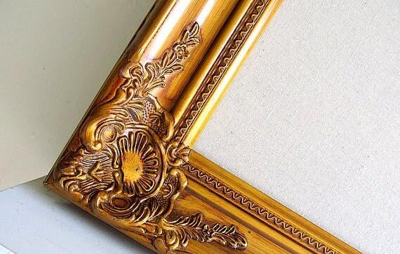 Linen BULLETIN BOARD Gold Wedding Decor Seating Chart Seating Cards Large Framed Bulletin Board Cork Board Corkboard Vintage Wedding Frame