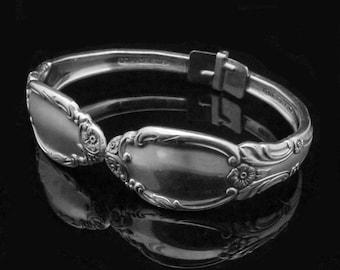 Handmade Silver Bracelet, Spoon Jewelry, Silverware Bracelet, Park Lane SMALL fits 5-6 inch wrist