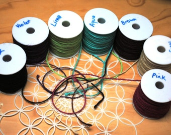 NATURAL Coloured JUTE Twine String - One Metre Length - Various Colours Available - Card Craft - Free Postage Australia Wide