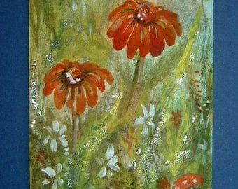 floral impressionist art painting ref 352