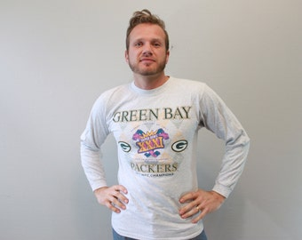 Vintage Green Bay Packers Football Long Sleeve Shirt Super Bowl XXXI 1996