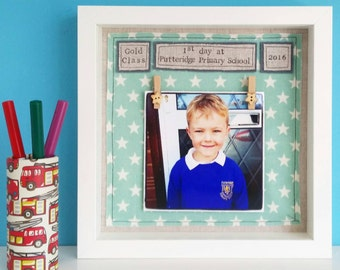 1st first day of school, 1st day of pre-school, 1st day of nursery personalised frame for starting school