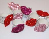 Lip Bling Napkin Rings Set of 8