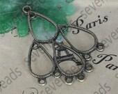 12 pcs drop circle Charm Connectors Antique bronze Tone,earring Connector Dangle, pendant findings,pendant charm