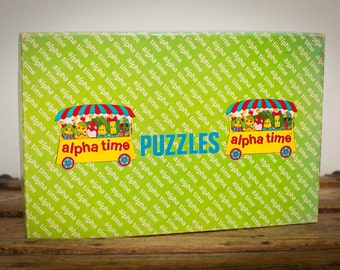 Alpha Time Puzzles, Kitsch Alphabet Letter People Cards, Vintage 70s