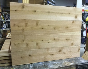 Blank Wood Sign - Pallet Style Signs - Make Your Own Sign - Raw Cedar Sign - Large Blank Sign - DIY unfinished Sign