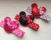 Mouse Hair Clips - No Slip Grip - Disney Barrettes