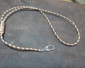 Adjustable, Braided, Leather Lanyard with Swivel  For Bo