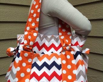 Chevron Diaper/Beach Bag