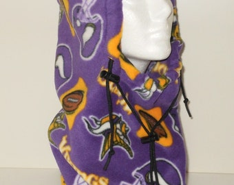 Minnesota Vikings Sports Team Fleece Adult Balaclava Hat - Ski Mask - Gift For Him - Gift For Her - Winter Team - Sports Team Hat