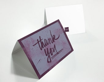 Thank You - 7x5 Greeting Card with Envelope