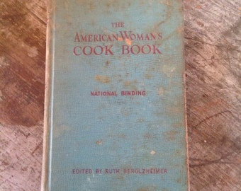 1948 The American Woman's Cook Book National Binding Berolzheimer