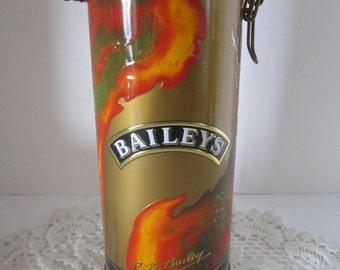 Baileys Irish Cream Tin Canister 1995 Edition - Liquor Storage Tin - Man Cave Decor - Product of Ireland