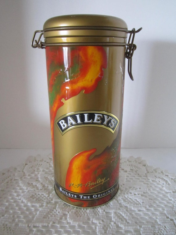 Baileys Irish Cream Tin Canister 1995 Edition - Liquor Storage Tin - Man Cave Decor - Product of Ireland
