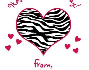 Valentine Cards -- Heart Valentine cards -- Kids Valentines