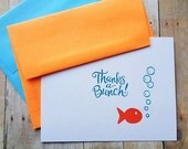 Goldfish Thank You Cards Thanks a Bunch Kid's Party