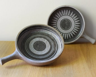 Vintage Snack Plates Hors d'oeuvre Canape Serving Dishes Mod Op Art