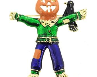 Halloween Scarecrow Pin Brooch 1005332