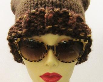 Chocolate Carmel Squared Hat