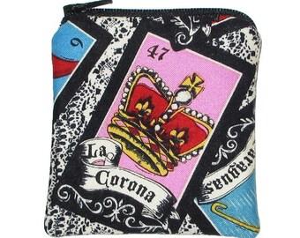 The Crown Mini Zipper Pouch Loteria La CoronaCoin Purse - 20% 0ff Shop Closing Sale