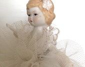 Vintage Ballerina Doll Ornament on Stand
