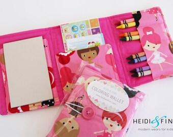 NEW Crayon Wallets coloring wallets GIRL styles, drawing sets art kits