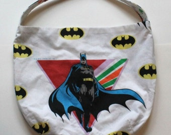 Superhero Comics Purse - Reversible - Shoulder Bag Style - Upcycled made from vintage fabric