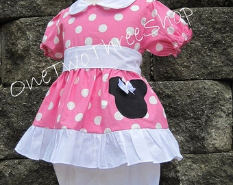Minnie Mouse Clothing Bubble gum Bloomers set  Sassy Girl