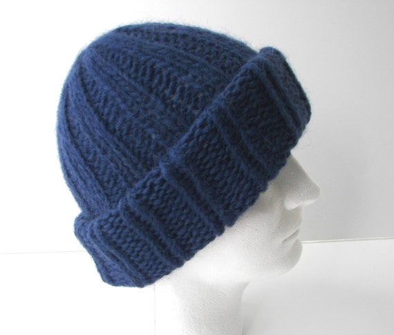 ICELANDIC WOOL Chunky Hand Knit Beanie Ski Hat in by ATIdesign