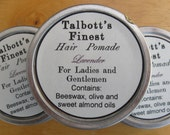 Handmade 2 oz lavender scented hair pomade for ladies and gentlemen